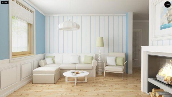 Фото 3 - Z14 - Функциональный и уютный дом с дополнительной спальней на первом этаже Простой и экономичный в строительстве.
