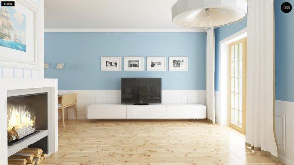 Фото 4 - Z14 - Функциональный и уютный дом с дополнительной спальней на первом этаже Простой и экономичный в строительстве.