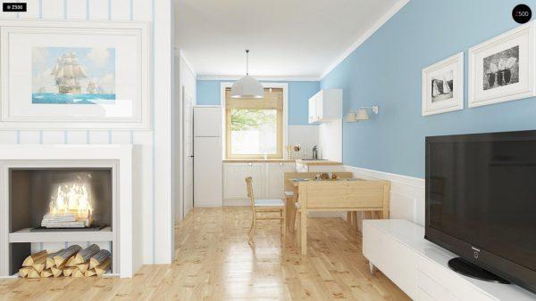 Фото 5 - Z14 - Функциональный и уютный дом с дополнительной спальней на первом этаже Простой и экономичный в строительстве.
