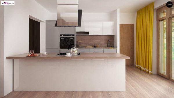 Фото 8 - Z140 v1 - Вариант проекта Z140 с фронтальным расположением кухни.