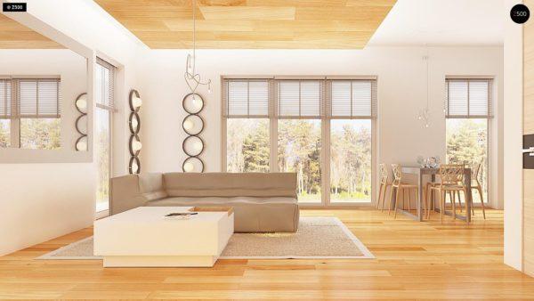 Фото 3 - Z149 - Удобный функциональный дом с террасой над гаражом, с современными элементами архитектуры.