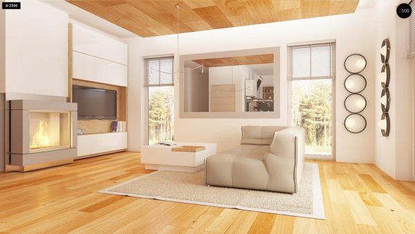 Фото 5 - Z149 - Удобный функциональный дом с террасой над гаражом, с современными элементами архитектуры.