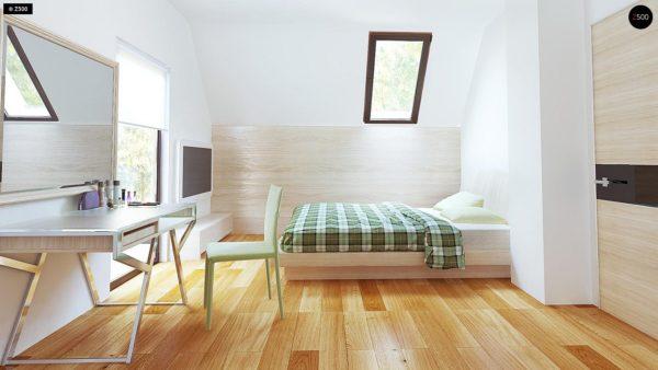 Фото 8 - Z149 - Удобный функциональный дом с террасой над гаражом, с современными элементами архитектуры.