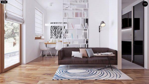 Фото 3 - Z16 dk - Аккуратный одноэтажный дом с деревянной облицовкой фасадов, адаптированный для каркасной технологии.