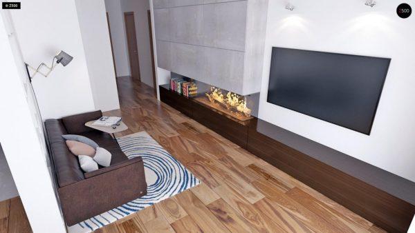 Фото 4 - Z16 dk - Аккуратный одноэтажный дом с деревянной облицовкой фасадов, адаптированный для каркасной технологии.