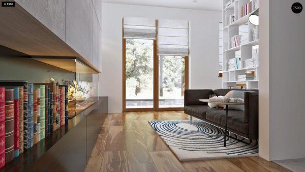 Фото 5 - Z16 dk - Аккуратный одноэтажный дом с деревянной облицовкой фасадов, адаптированный для каркасной технологии.