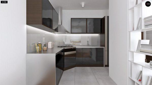Фото 6 - Z16 dk - Аккуратный одноэтажный дом с деревянной облицовкой фасадов, адаптированный для каркасной технологии.