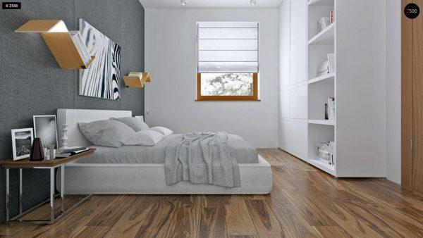 Фото 8 - Z16 dk - Аккуратный одноэтажный дом с деревянной облицовкой фасадов, адаптированный для каркасной технологии.