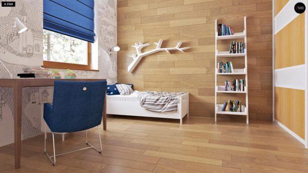 Фото 11 - Z16 dk - Аккуратный одноэтажный дом с деревянной облицовкой фасадов, адаптированный для каркасной технологии.