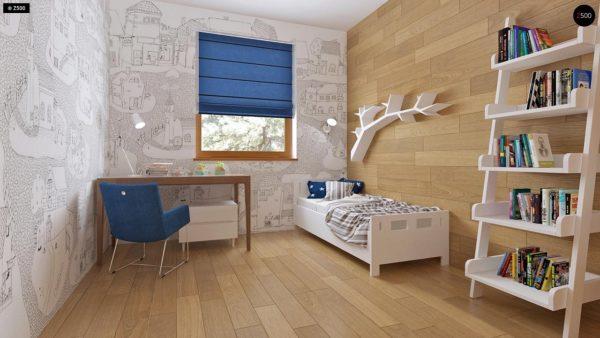 Фото 12 - Z16 dk - Аккуратный одноэтажный дом с деревянной облицовкой фасадов, адаптированный для каркасной технологии.