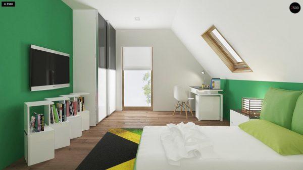 Фото 11 - Z163 - Небольшой стильный и практичный дом с мансардными окнами.