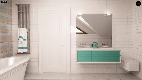 Фото 13 - Z163 - Небольшой стильный и практичный дом с мансардными окнами.