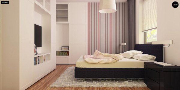 Фото 9 - Z173 - Просторный дом традиционной формы с гаражом и дополнительной небольшой ночной зоной на первом этаже.