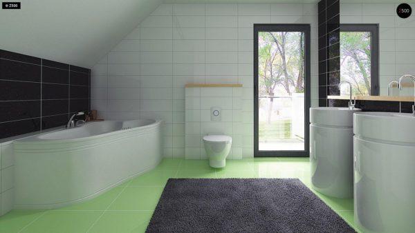 Фото 13 - Z174 - Компактный и удобный дом традиционной формы, подходящий, также, для узкого участка.