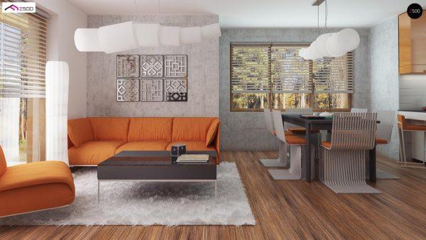 Фото 4 - Z178 a - Версия проекта Z178 с дополнительной комнатой на первом этаже.