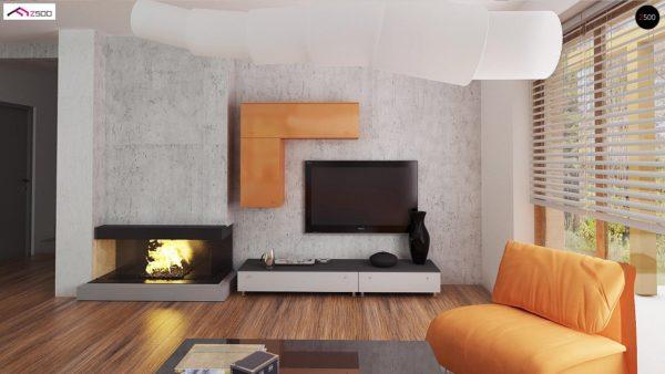 Фото 5 - Z178 - Элегантный дом простой формы со встроенным гаражом, эркером и балконом над ним.
