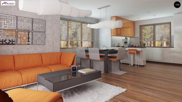 Фото 7 - Z178 a - Версия проекта Z178 с дополнительной комнатой на первом этаже.
