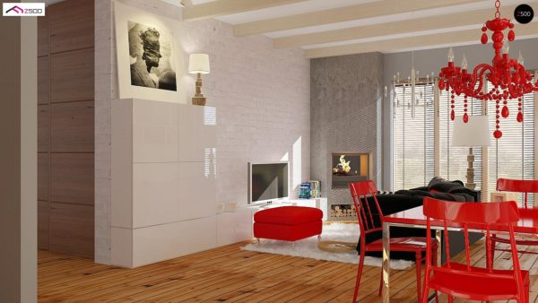 Фото 3 - Z19 - Одноэтажный удобный дом с фронтальным гаражом, с возможностью обустройства мансарды.