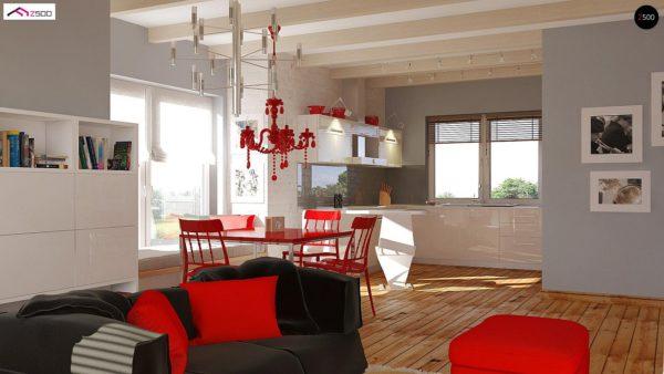 Фото 4 - Z19 - Одноэтажный удобный дом с фронтальным гаражом, с возможностью обустройства мансарды.