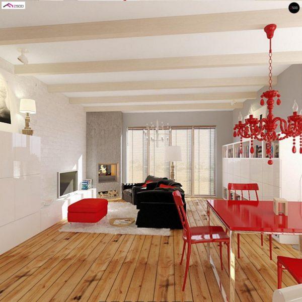 Фото 7 - Z19 - Одноэтажный удобный дом с фронтальным гаражом, с возможностью обустройства мансарды.
