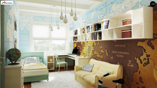 Фото 9 - Z19 - Одноэтажный удобный дом с фронтальным гаражом, с возможностью обустройства мансарды.
