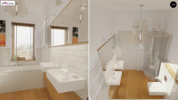Фото 13 - Z19 - Одноэтажный удобный дом с фронтальным гаражом, с возможностью обустройства мансарды.
