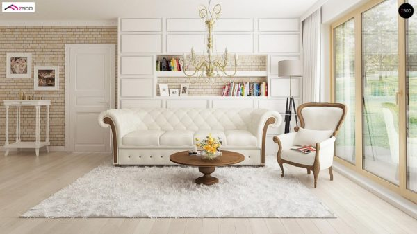 Фото 7 - Z2 A - Проект дома в классическом стиле с роскошной мансардой и стильным экстерьером.