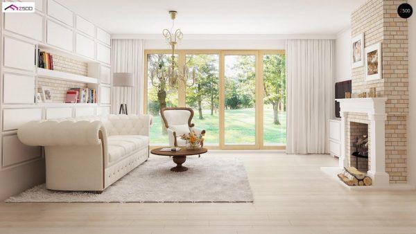 Фото 8 - Z2 A - Проект дома в классическом стиле с роскошной мансардой и стильным экстерьером.