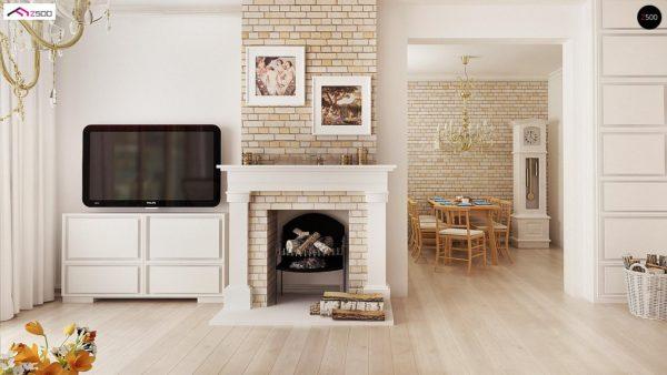 Фото 9 - Z2 A - Проект дома в классическом стиле с роскошной мансардой и стильным экстерьером.