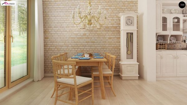 Фото 10 - Z2 A - Проект дома в классическом стиле с роскошной мансардой и стильным экстерьером.