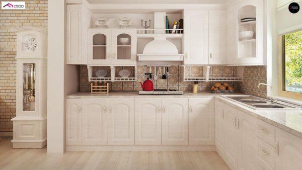 Фото 11 - Z2 A - Проект дома в классическом стиле с роскошной мансардой и стильным экстерьером.