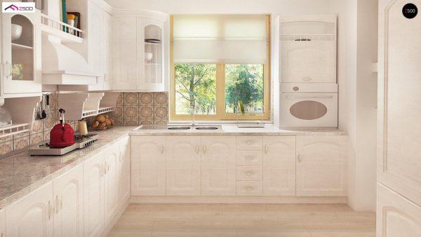 Фото 12 - Z2 A - Проект дома в классическом стиле с роскошной мансардой и стильным экстерьером.