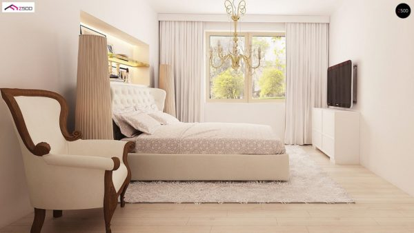 Фото 14 - Z2 A - Проект дома в классическом стиле с роскошной мансардой и стильным экстерьером.