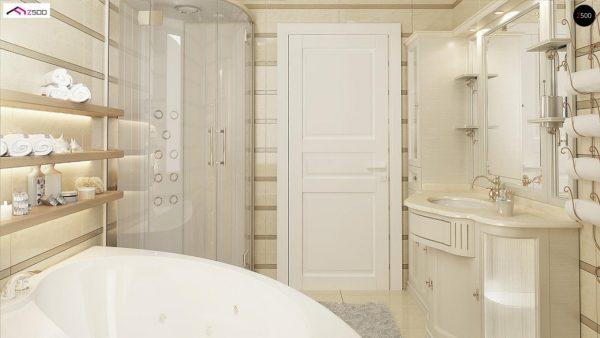 Фото 16 - Z2 A - Проект дома в классическом стиле с роскошной мансардой и стильным экстерьером.