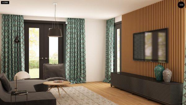 Фото 5 - Z209 - Практичный одноэтажный дом с гаражом для двух автомобилей и большим хозяйственным помещением.