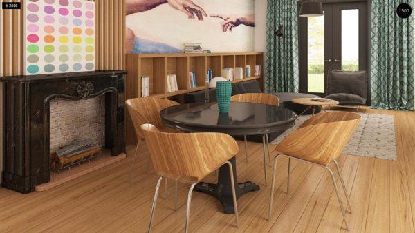 Фото 6 - Z209 - Практичный одноэтажный дом с гаражом для двух автомобилей и большим хозяйственным помещением.