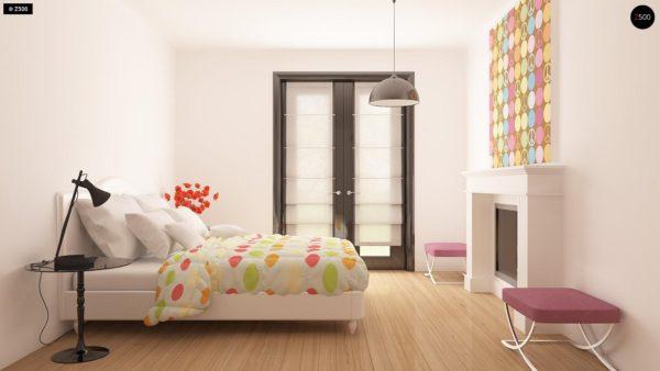 Фото 15 - Z209 - Практичный одноэтажный дом с гаражом для двух автомобилей и большим хозяйственным помещением.