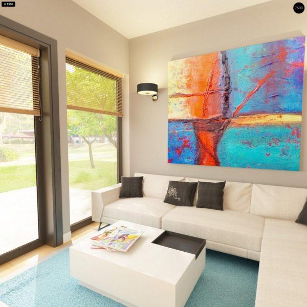 Фото 8 - Z24 - Практичный одноэтажный дом с 4-х скатной кровлей и угловым окном в кухне.