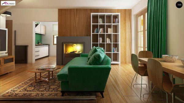 Фото 8 - Z30 - Компактный дом с мансардой, с крытой террасой и внешним камином.