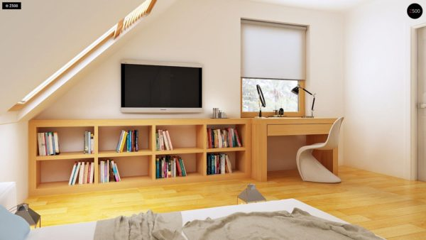 Фото 12 - Z34 - Практичный дом для небольшого участка, простой в строительстве, дешевый в эксплуатации.