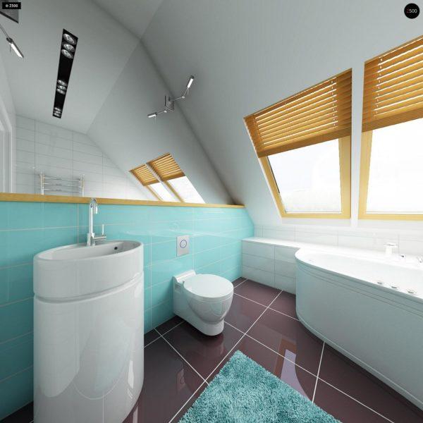 Фото 16 - Z34 - Практичный дом для небольшого участка, простой в строительстве, дешевый в эксплуатации.