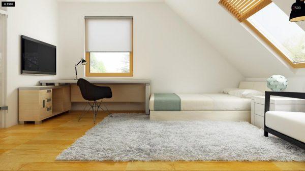 Фото 18 - Z34 - Практичный дом для небольшого участка, простой в строительстве, дешевый в эксплуатации.