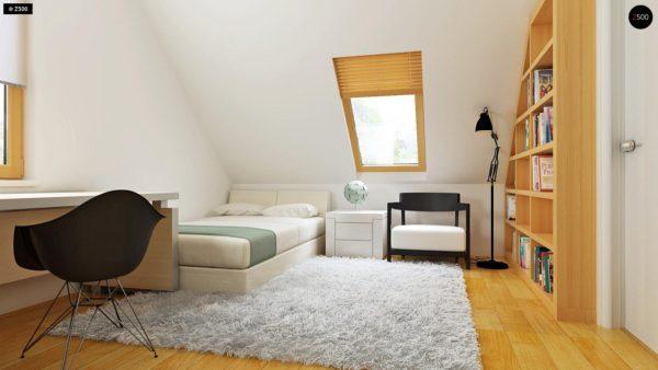 Фото 19 - Z34 - Практичный дом для небольшого участка, простой в строительстве, дешевый в эксплуатации.
