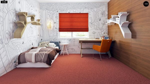Фото 11 - Z35 bG - Комфортный одноэтажный дом традиционного дизайна.