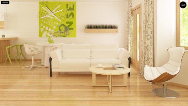 Фото 4 - Z40 - Выгодный и простой в строительстве дом с эркером в дневной зоне.