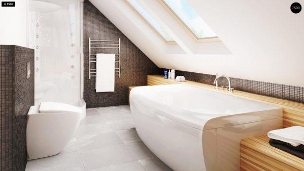 Фото 18 - Z40 - Выгодный и простой в строительстве дом с эркером в дневной зоне.
