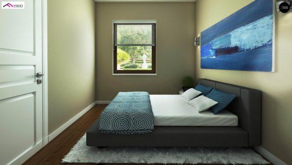 Фото 8 - Z60 - Выгодный в строительстве и эксплуатации маленький одноэтажный дом с крытой террасой.