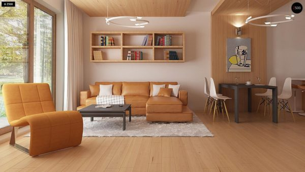 Фото 3 - Z69 dk - Проект одноэтажного классического дома адаптированного для каркасной технологии строительства.