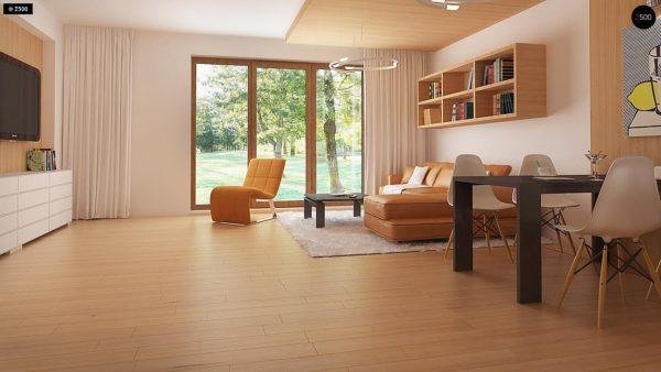 Фото 4 - Z69 dk - Проект одноэтажного классического дома адаптированного для каркасной технологии строительства.