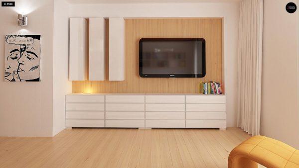 Фото 5 - Z69 dk - Проект одноэтажного классического дома адаптированного для каркасной технологии строительства.